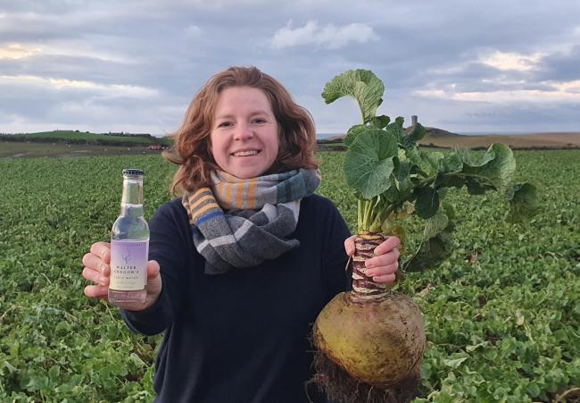 Claire Rennie, founder of small-batch Scottish tonic water Walter Gregor's, has created the world's first neep tonic water in time for toasting Robert Burns