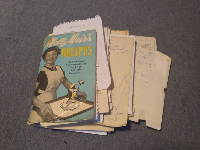 The Molly Weir recipe book was a gift to my mother in 1965