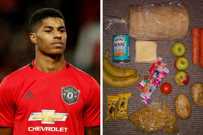 Marcus Rashford said the food parcel (posted by @RoadsideMum) was 'just not good enough'