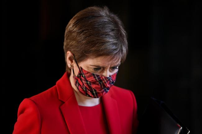 Nicola Sturgeon announced the latest figures at the coronavirus briefing