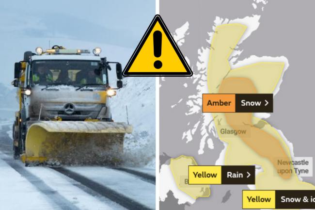 The amber warning is in place from 3pm today until tomorrow night