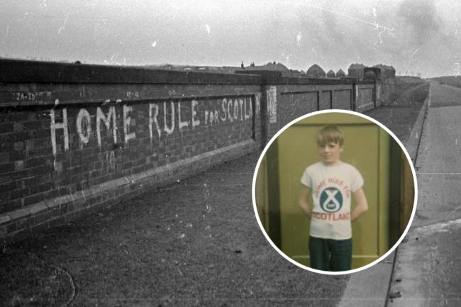 Stephen Molloy submitted the picture of his brother Jeff, taken in early 1970s, wearing his Home Rule for Scotland T-shirt