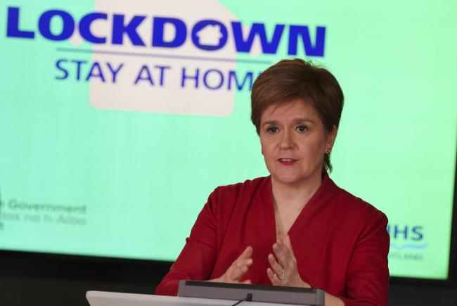 On Monday Nicola Sturgeon held a regular, televised media briefing on Covid issues