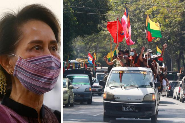 Military chiefs have reportedly detained civilian leader Aung San Suu Kyi