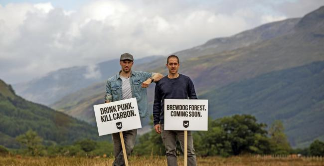 BrewDog co-founders James Watt, left, and Martin Dickie