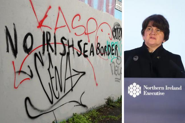 Arlene Foster's DUP is calling for the UK Government to move customs checks from the Irish sea onto the island of Ireland