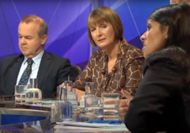 Footage can be found of Ian Hislop shredding Priti Patel's argument for the death penalty
