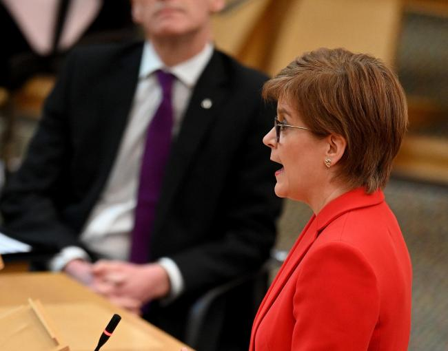 Nicola Sturgeon set out the new framework in the Scottish Parliament