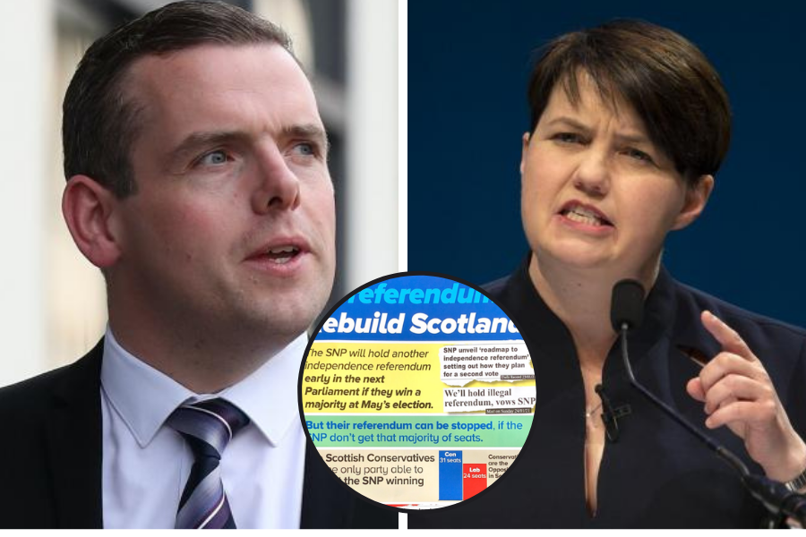Scottish Tory leaflet says SNP majority at May vote WILL result in indyref2