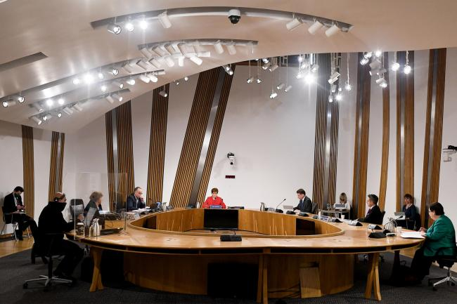 The committee took evidence from Nicola Sturgeon this month