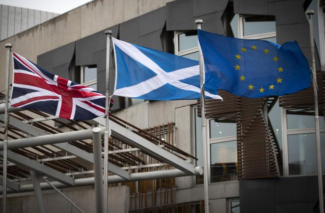 The poll found 53% of Scots back leaving the Union