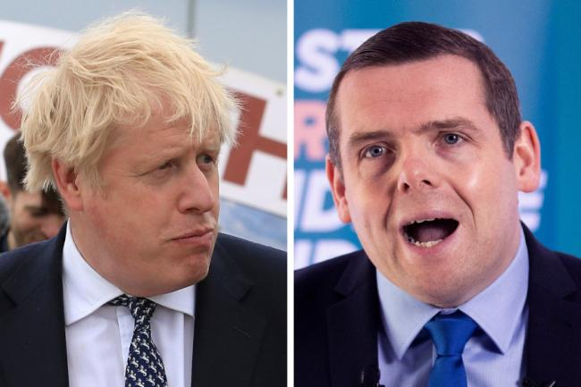 Boris Johnson has sparked accusations he and Douglas Ross are 'running scared' of Scottish voters