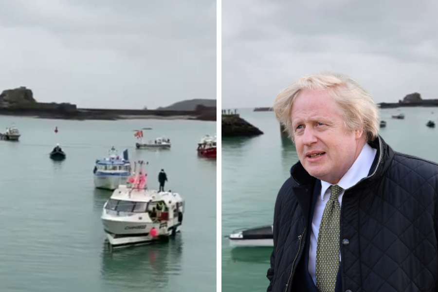 UK sends out gunboats as French vessels gather in post-Brexit fishing protest