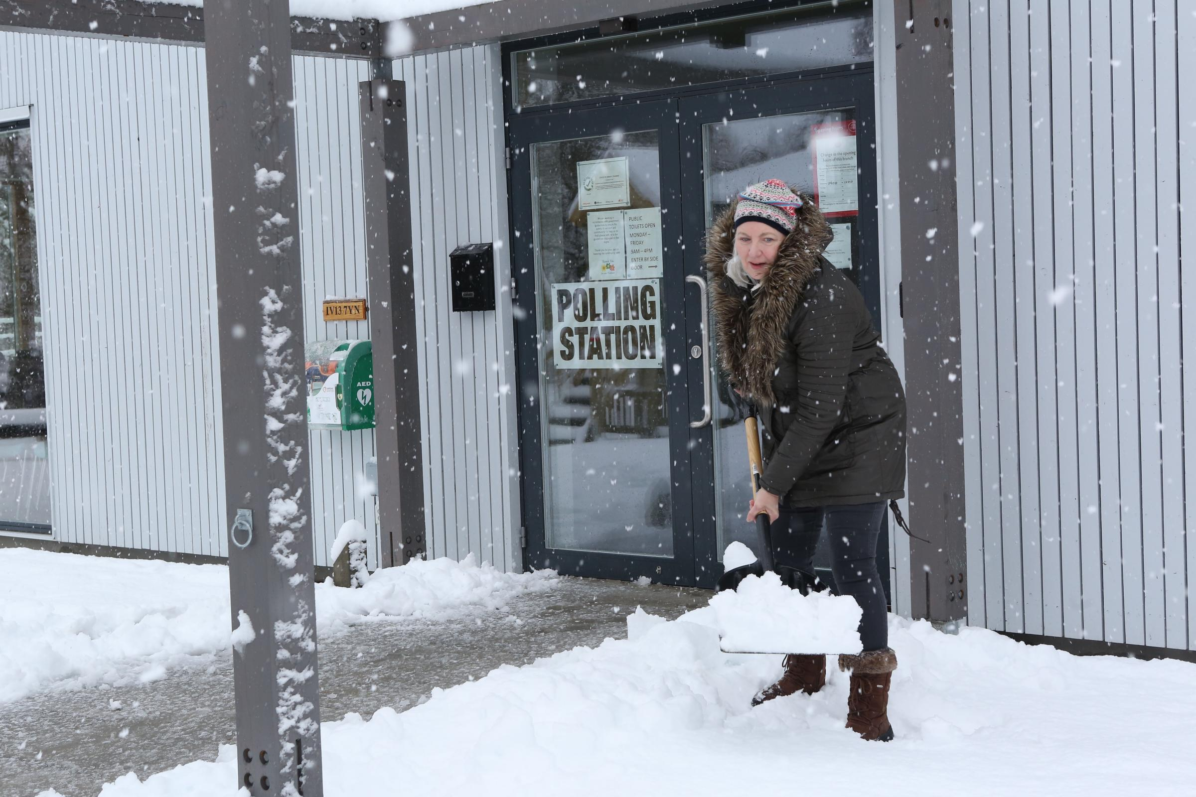Election 2021: Snow way this weather will stop activists getting out the vote
