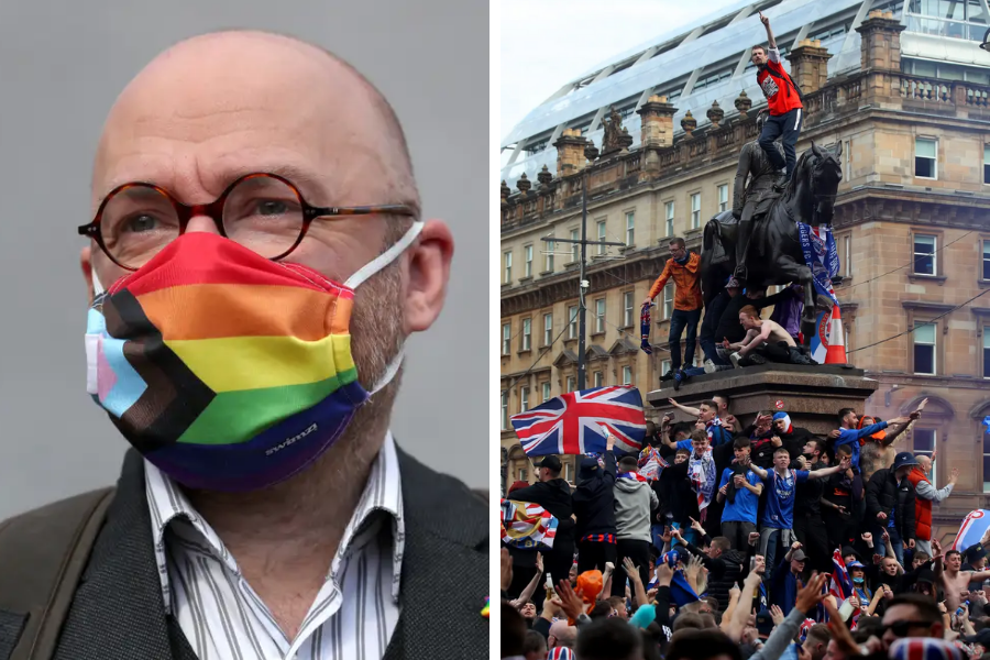 Patrick Harvie lashes out at Home Office protests/Rangers fans comparisons