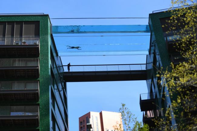 Sky Pool: London's floating pool, suspended 115 feet in the air, sparks  debate | The National