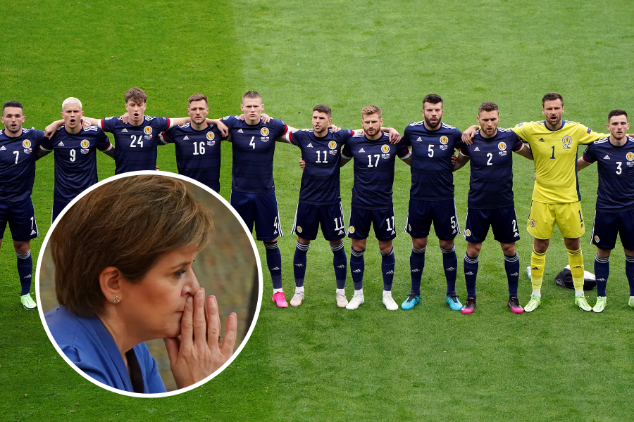 WATCH: Nicola Sturgeon stands for national anthem ahead of Scotland match