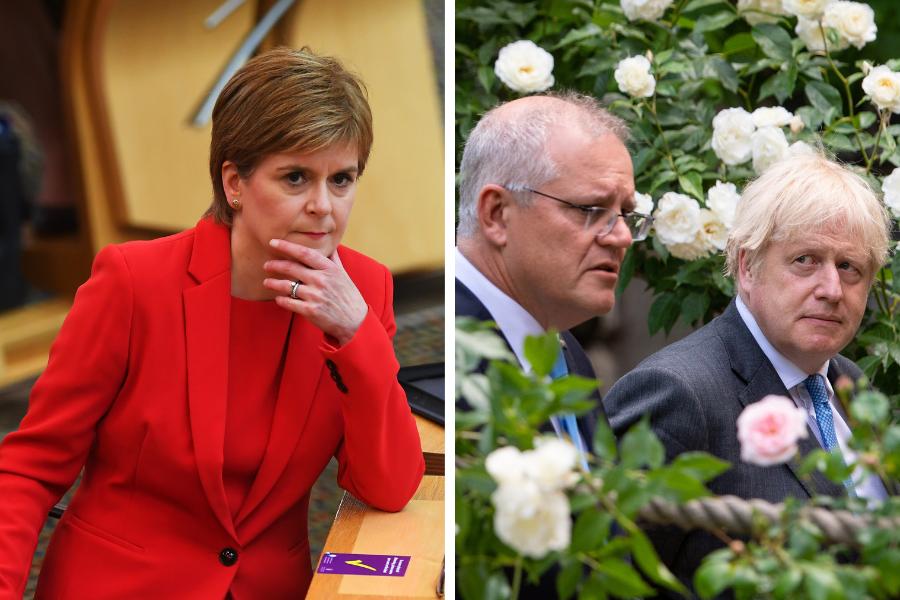 Scotland 'kept in the dark' on Australia deal while UK briefs the media