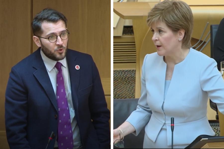 WATCH: Nicola Sturgeon clashes with Paul Sweeney over Glasgow asylum ban