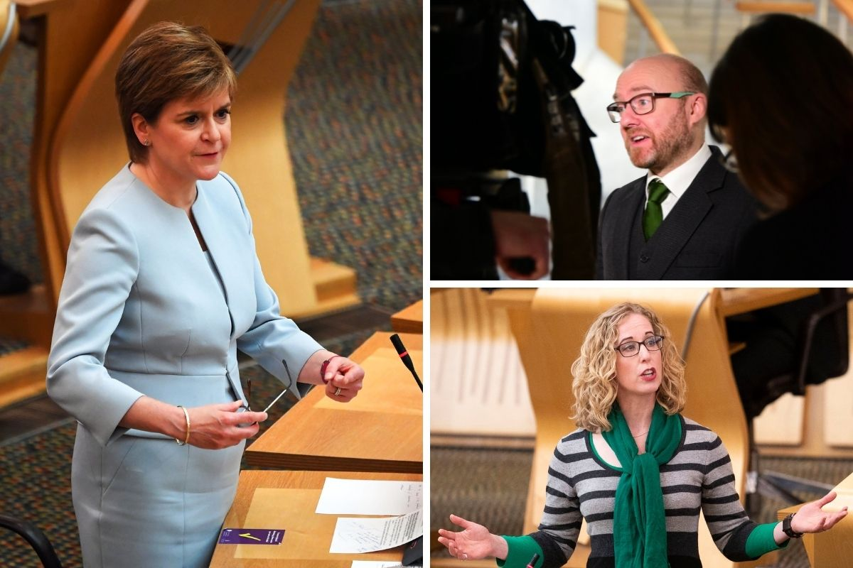 Nicola Sturgeon 'optimistic' on co-operation deal with Green Party