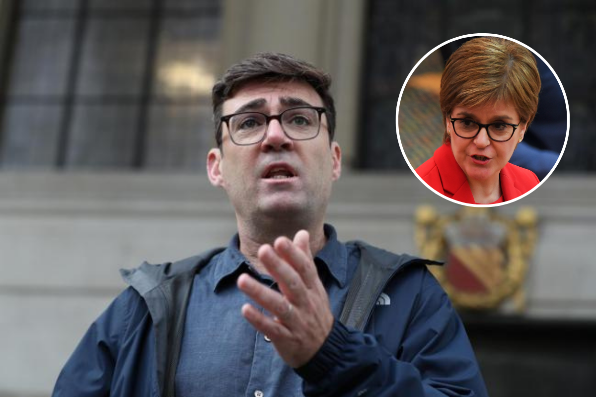 Andy Burnham in row with Nicola Sturgeon over Manchester travel ban