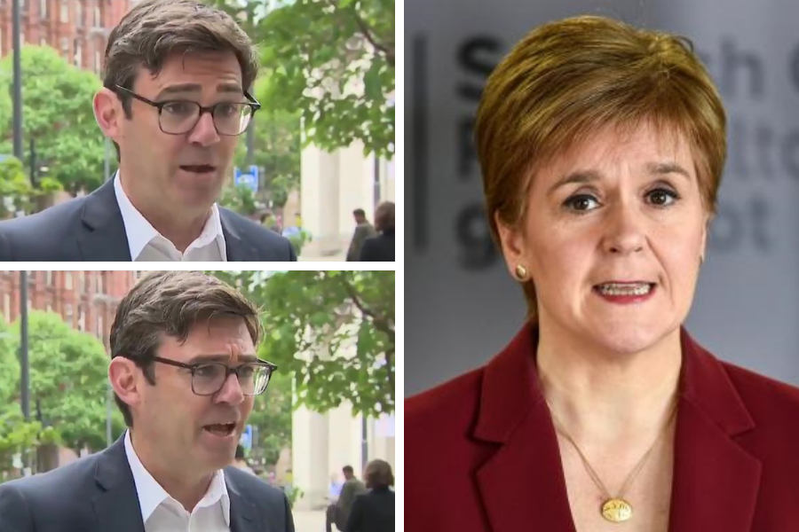 WATCH: Furious Andy Burnham accuses Nicola Sturgeon of 'insulting' Manchester