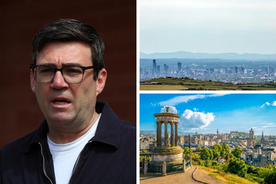 Andy Burnham forgets about Edinburgh and Glasgow in attack on Nicola Sturgeon
