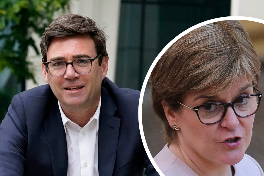 Andy Burnham slammed over 'absurd' claims during talks with Nicola Sturgeon