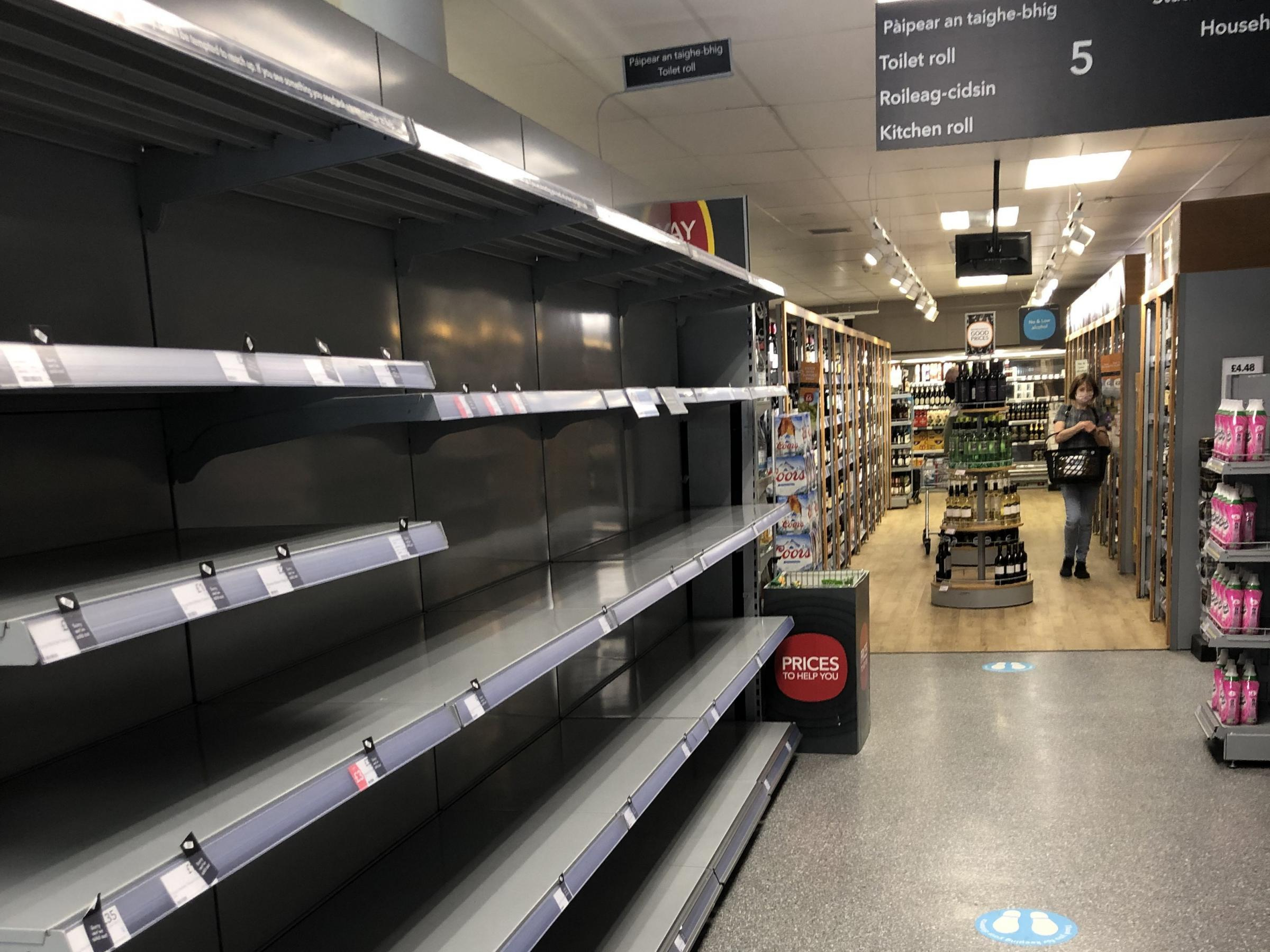 Retailers blame Brexit as food shortages sweep across Scotland's stores