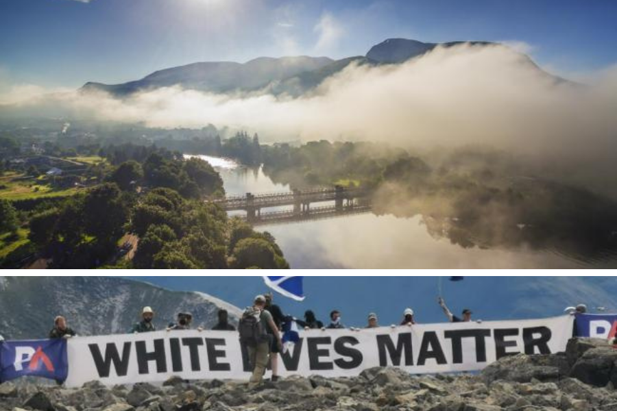Charity that cares for Ben Nevis issues furious condemnation of far-right stunt