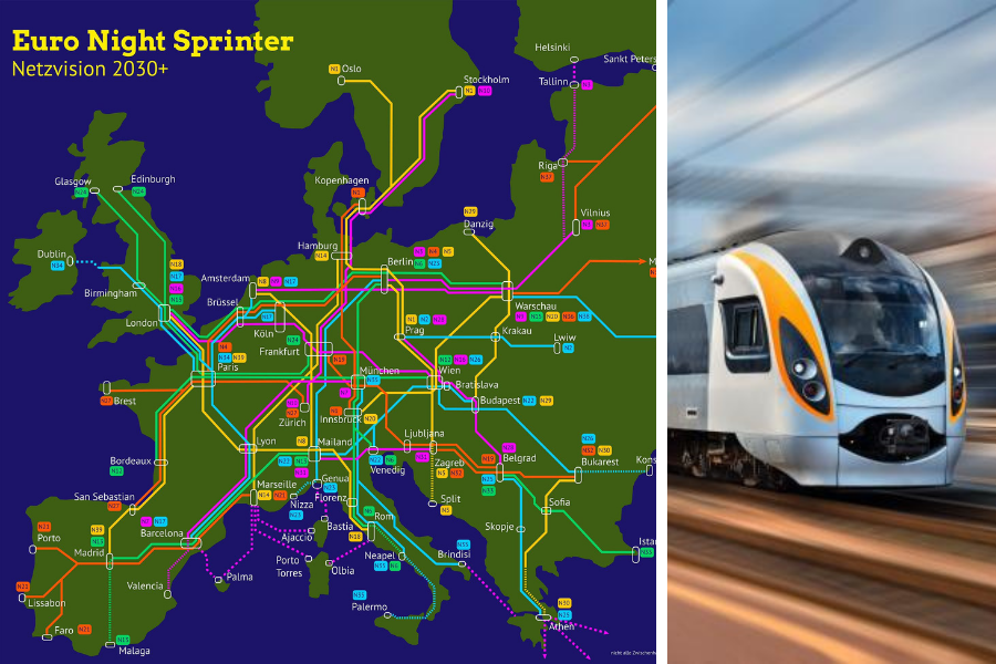 Plan for night-time train services from Scotland to major EU cities unveiled