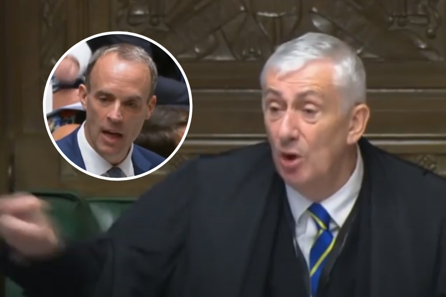 WATCH: Speaker scolds Dominic Raab for rambling response to SNP MP