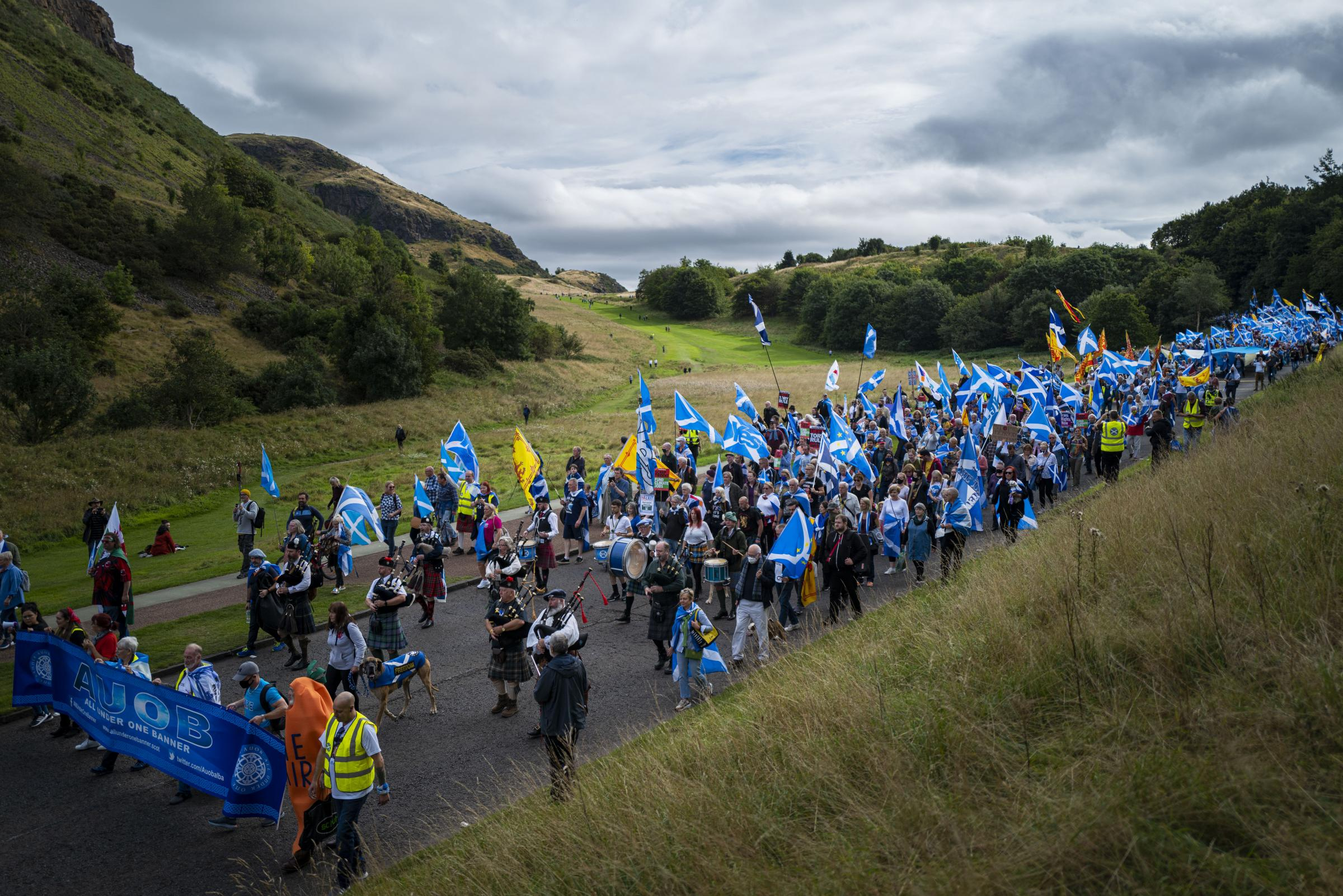 IN PICTURES: 'Five thousand people' march at Edinburgh pro-independence rally