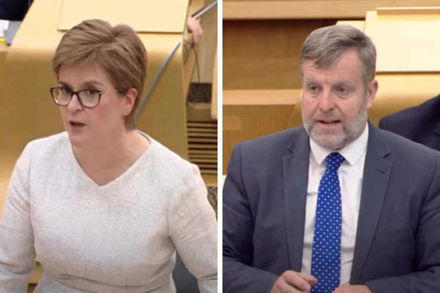 Applause as Nicola Sturgeon rips up Tory's 'galling' staff shortage question