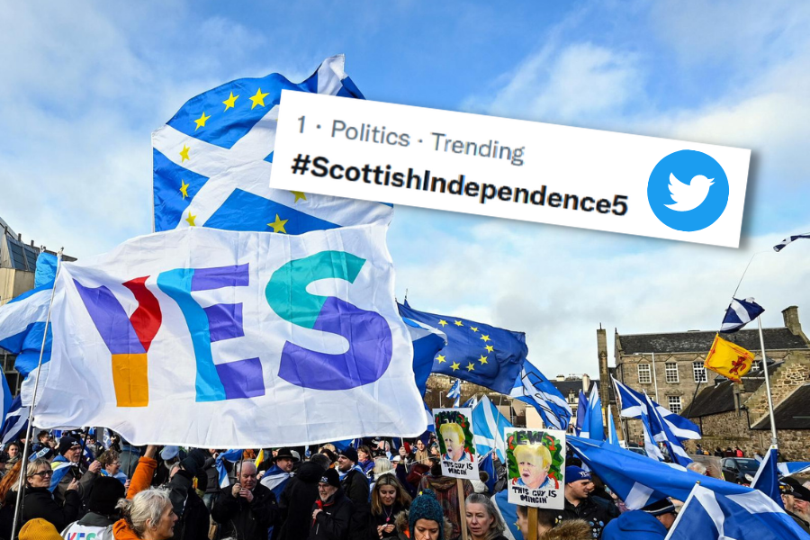 'Twitter storm' for Scottish independence takes top spot in UK