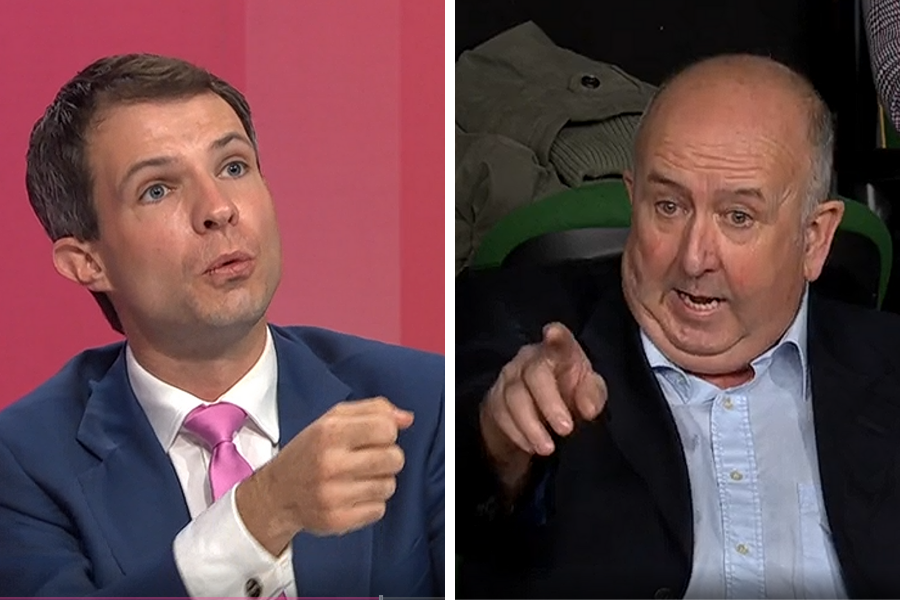 WATCH: Andrew Bowie scolded for acting like a 'wee schoolboy' to Boris Johnson