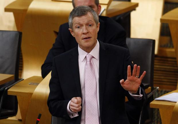 The National: Willie Rennie MSP during First Minister's Questions, 21 January 2016. Pic - Andrew Cowan/Scottish Parliament