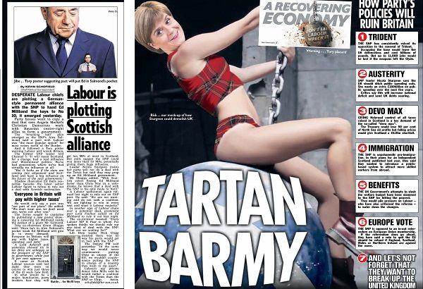 The Sun's image of the First Minister provoked accusations of misogyny