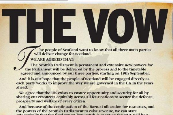 Architect of 'The Vow' comes out for Scottish independence
