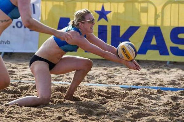 Lynne Beattie has switched from representing Scotland at indoor volleyball to the 'more glamorous' beach version