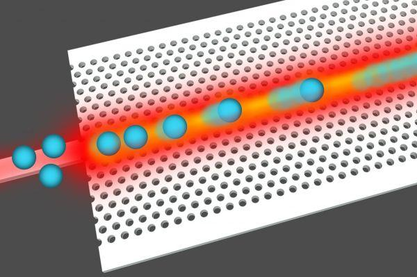 Researchers at St Andrews and York universities created nanostructures and drove particles along a track of light