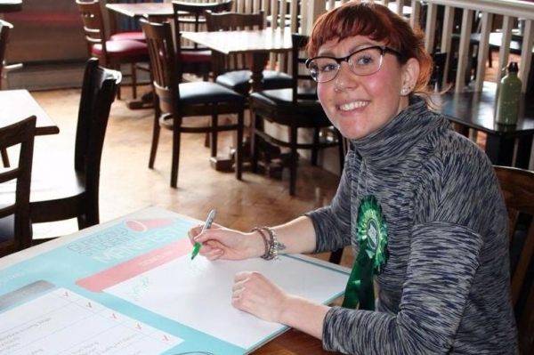 Zara Kitson is hoping to be female co-convenor of the Greens