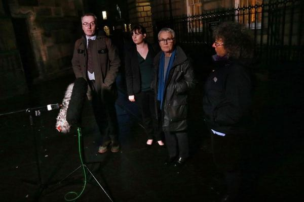 Tim Morrison, Phemie Matheson, Cary Welling and Fiona Grahame                             leave Edinburgh's Court of Session Photograph: Stewart Attwood
