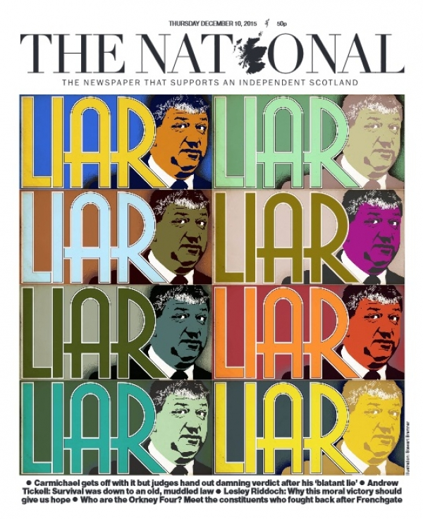 Our front page told no word of a lie – unlike Carmichael