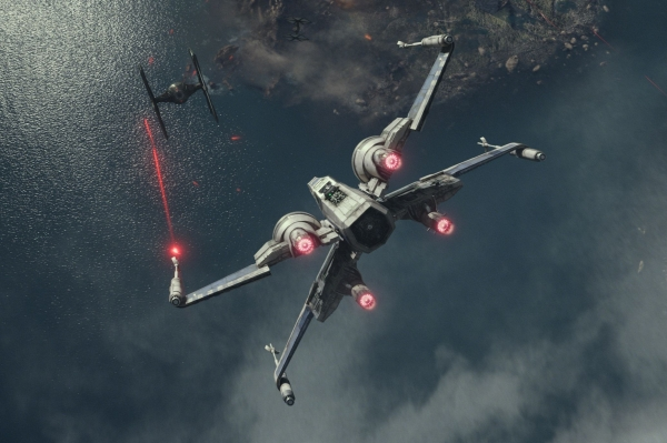 An X-Wing takes on a TIE Fighter in The Force Awakens. But are the Star Wars movies teaching us about more than cool space battles?