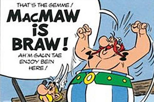 E'en Asterix the Gaul has learnt the guid of Scots, helpit by Matthew Fitt