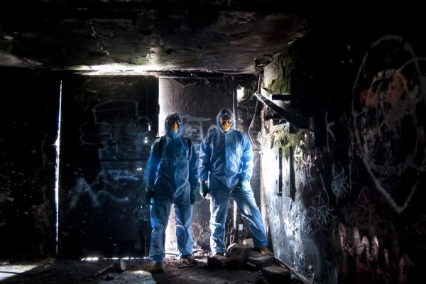 History enthusiasts undertook the daunting task of restoring the nuclear bunker on Corstorphine Hill in Edinburgh. Photographs: Andrew Brooks