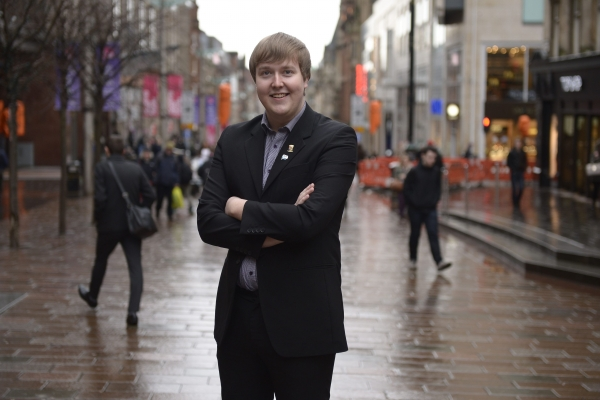 Jordan Linden, Scottish Youth Parliament Chair, above, wants young voices heard