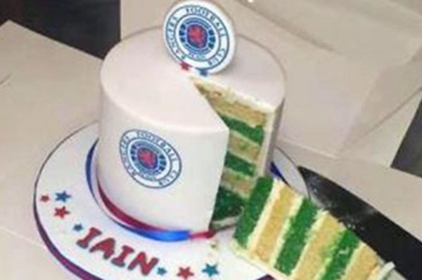 A cake of two halves fit for Old Firm fans The National
