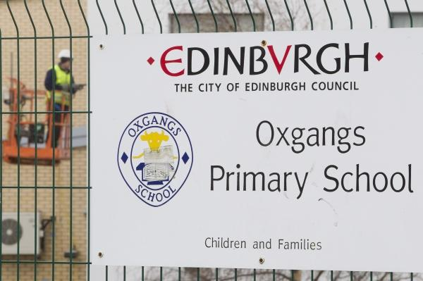 Oxgangs Primary School, where part of a wall collapsed in January